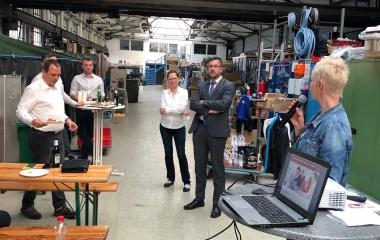 18.04.18 - Wirtschaftstalk bei der Firma Airkom GmbH in Wildau