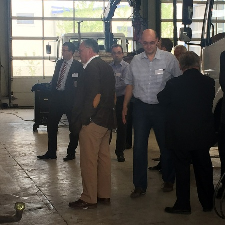 Wirtschaftstalk bei Fahrzeugbau Wischmann